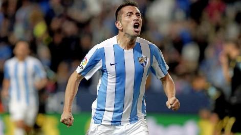 Gol de Charles (1-0) en el M�laga-Granada