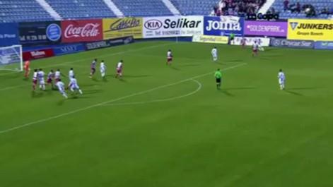 Copa del Rey: Gol de Omar Ramos (2-0) en el Legan�s 2-1 Granada