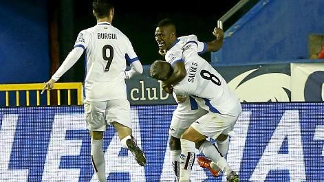 Gol de Mamadou (0-1) en el Levante 1-1 Espanyol