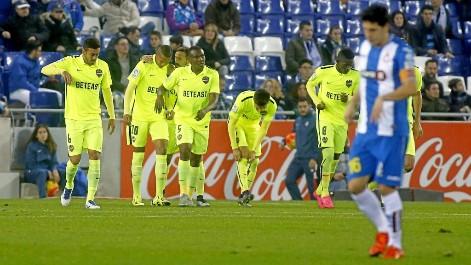 Gol de Lerma (0-1) en el Espanyol 1-1 Levante