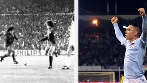 Iago Aspas se disfraz� de Maradona
