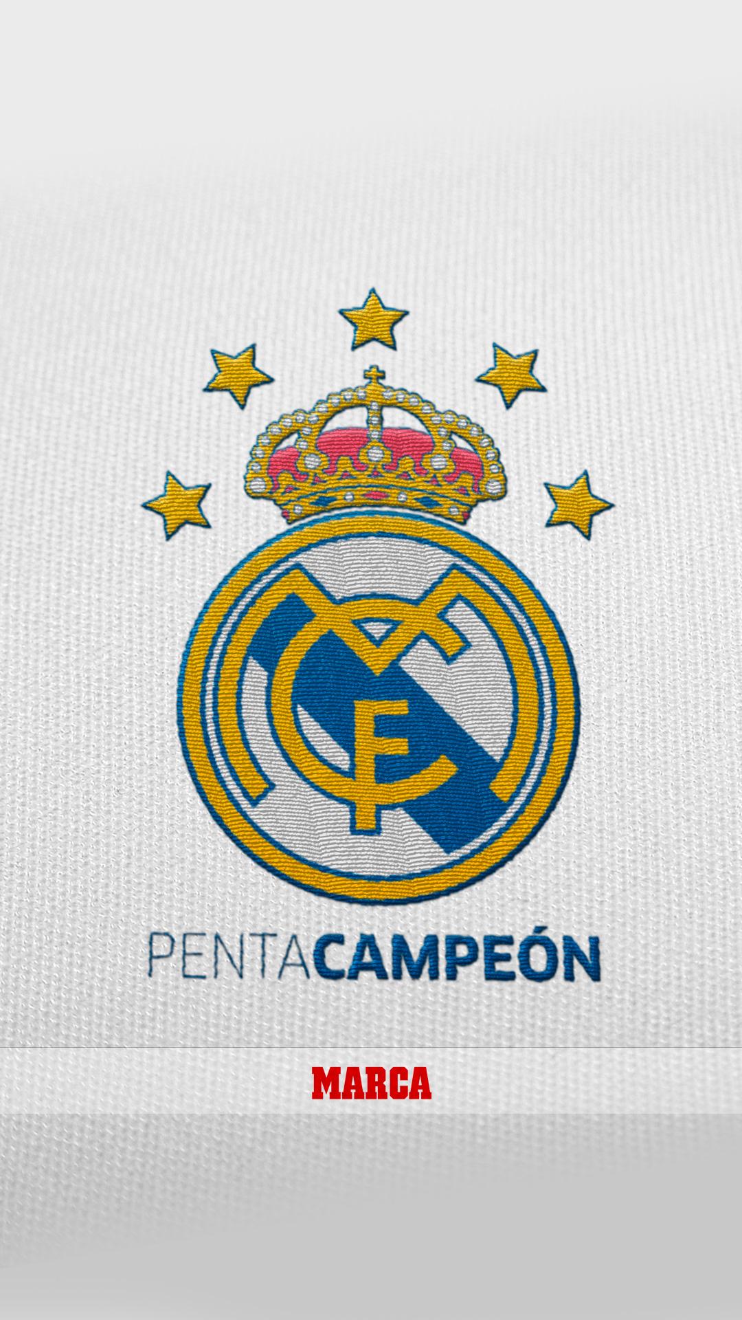 Descárgate en tu móvil el fondo del Madrid pentacampeón del mundo ... e16501a7e2e14