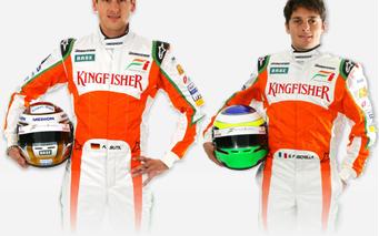 Los pilotos de Force India F1
