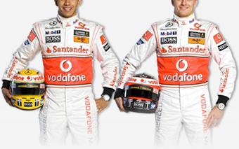 Los pilotos de McLaren