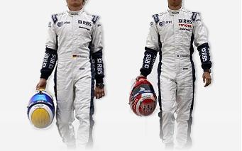 Los pilotos de Williams