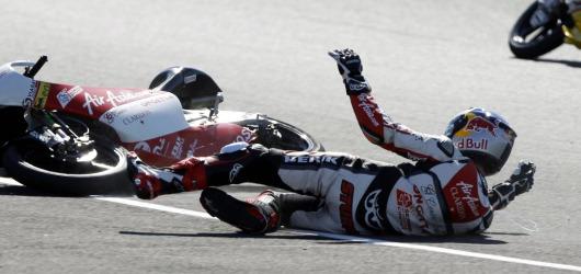 Caída en Moto2