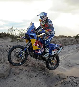 Cyril Despres pilota en el Rally Dakar