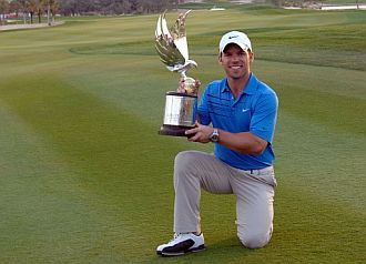 Paul Casey, campe�n del torneo de Abu Dhabi de golf.