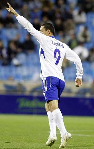 Ricardo Oliveira durante un partido con el Zaragoza