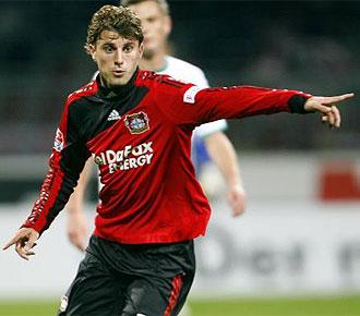 Henrique, con la camiseta del Bayer Leverkusen