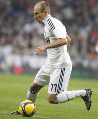 Arjen Robben, jugador del Real Madrid.