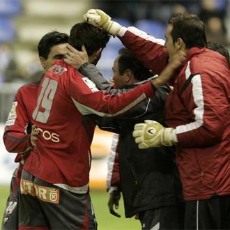 Los jugadores del Albacete dedicaron un gol a su entrenador