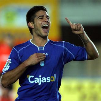 Aythami celebra el segundo gol del Xerez