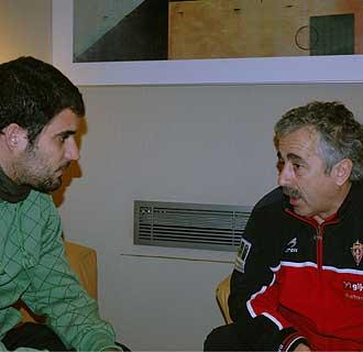 Manolo Preciado junto al redactor de MARCA.com