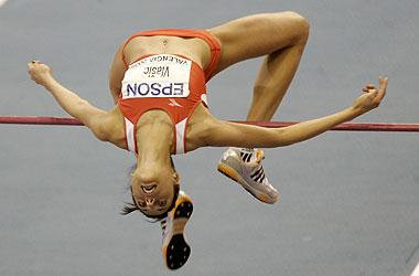 Blanka Vlasic, durante los pasados Mundiales en pista cubierta celebrados el a�o pasado en Valencia