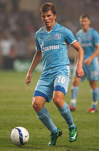 Andrei Arshavin, durante un partido con el Zenit de San Petersburgo.