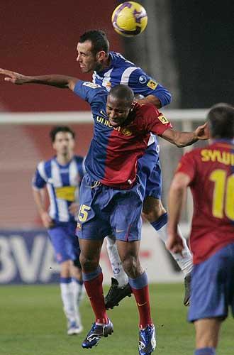 Keita, durante el partido de ida ante el Espanyol.