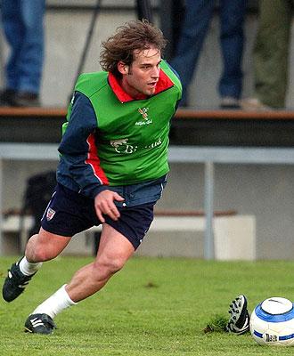 Jonan García, en un entrenamiento con el Athletic