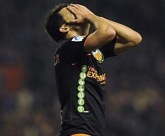 David Villa, jugador del Valencia