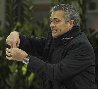 Mourinho, durante el choque ante la Sampdoria en el que fue expulsado.