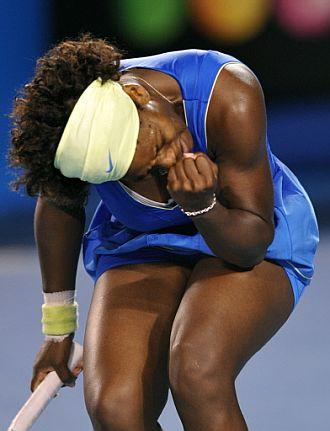 Serena Williams celebra la victoria ante Svetlana Kuznetsova en cuartos de final.