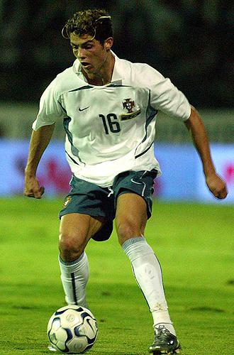 Cristiano Ronaldo, durante uno de sus primeros partidos con la selecci�n portuguesa.