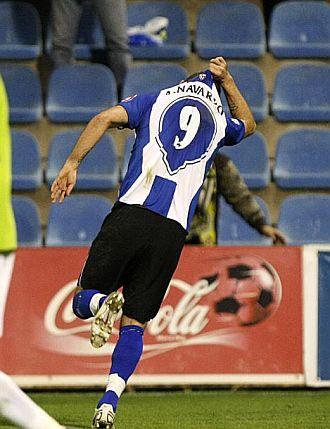 Rub�n Navarro hizo el gol de la victoria.