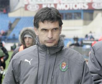 José Luis Mendilibar en el Vicente Calderón.