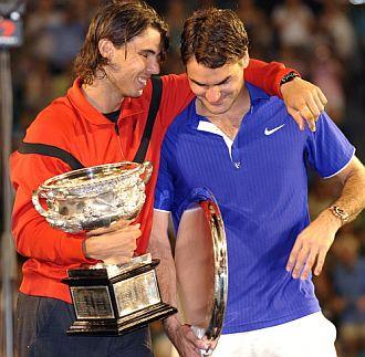 Nadal abraza a Federer