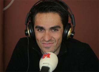 Alberto Contador, durante una entrevista en Radio MARCA.