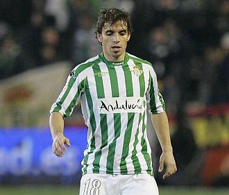 El centrocampista del Betis Alberto Rivera