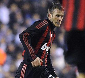 El ingl�s David Beckham, con el Milan