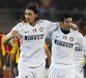 Ibrahimovic y Figo fueron autores de dos goles ante el Lecce.