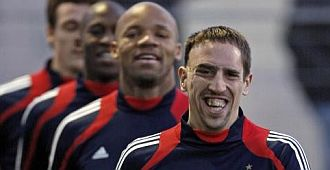 Ribery se entrena con la selecci�n francesa