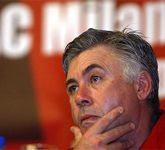 Ancelotti, durante una rueda de prensa.