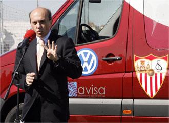 Del Nido durante una presentaci�n del acuerdo con Audi para el coche oficial de la cantera.