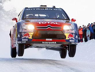 S�bastien Loeb pilota su Citro�n durante la primera etapa del Rally de Noruega.