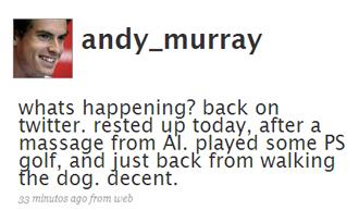 El Twitter del tenista Andy Murray.