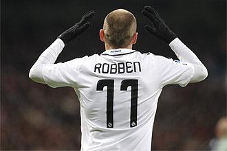Robben gesticula en su �ltimo partido con el Real Madrid
