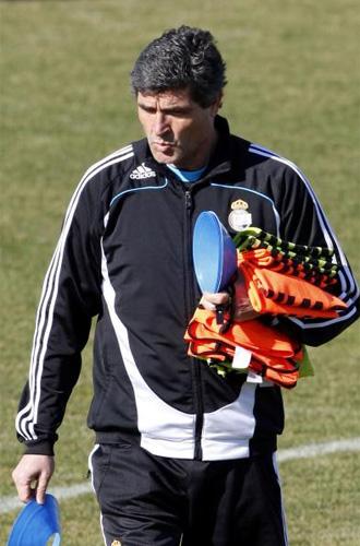Juande Ramos, en un entrenamiento en Valdebebas.