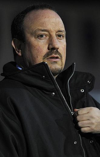 Rafa Benitez durante un partido del Liverpool