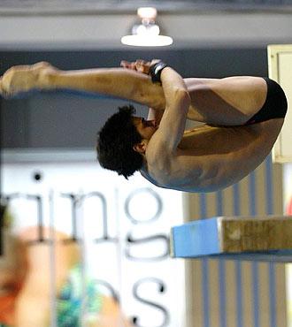 El saltador espa�ol Javier Illana