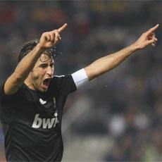 Ra�l celebra un gol en el Real Madrid-Betis del pasado s�bado