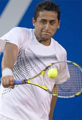 Nicol�s Almagro, en el torneo de Acapulco.