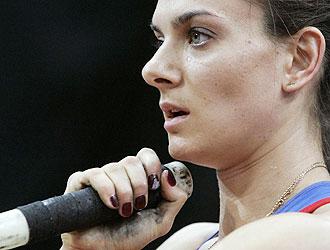 Primer plano de Yelena Isinbayeva, que ha anunciado su retirada para dentro de cuatro a�os
