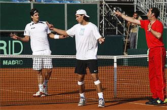 Albert Costa entrena en Benidorm junto a Rafa Nadal y Feliciano L�pez.