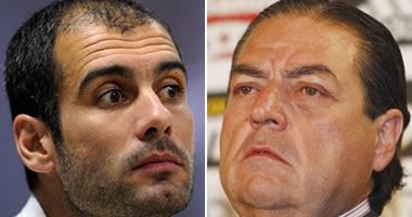 Pep Guardiola y Vicente Boluda
