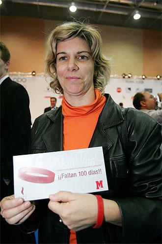 Mar�a Quintanal en la firma de un Plan ADO en el 2005.