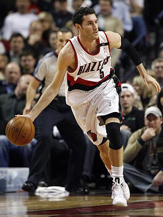 Rudy Fern�ndez jugando en Portland