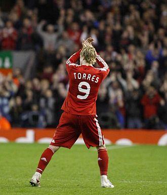 Fernando Torres fue ovacionado.